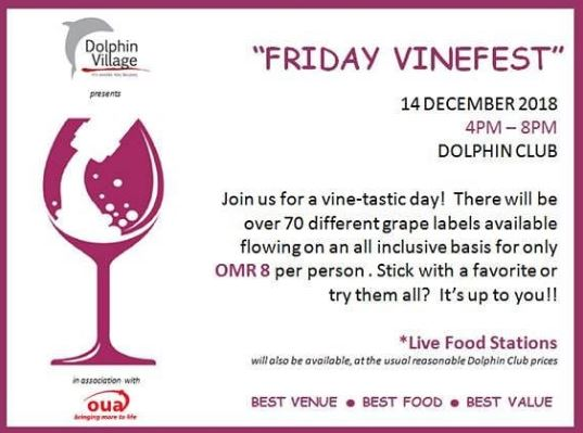 Over 70 grape varieties! Grab your peer and have a vine-tastic day with us at Dolphin Village on 14th December from 4PM.
